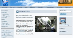 Homepage der Raiffeisenbank Schleusingen eG