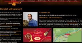 Internetauftritt – Brass Service